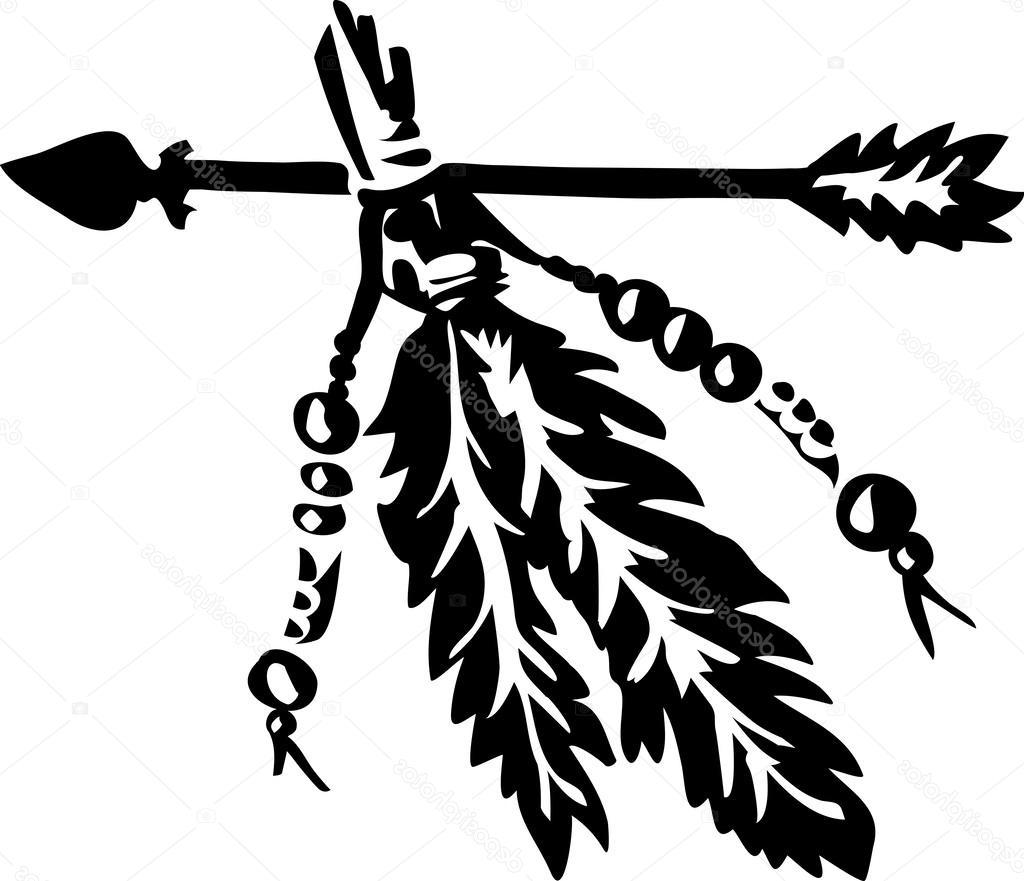 1024x881 Best Hd Stock Illustration Arrow With Feathers Native Americans