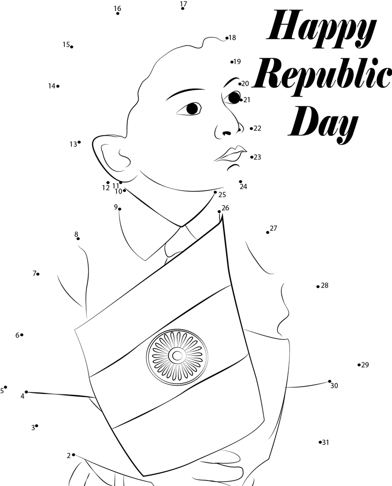 800x992 Republic Day Craft, Clipart, Sketch, Drawing, Printable Card