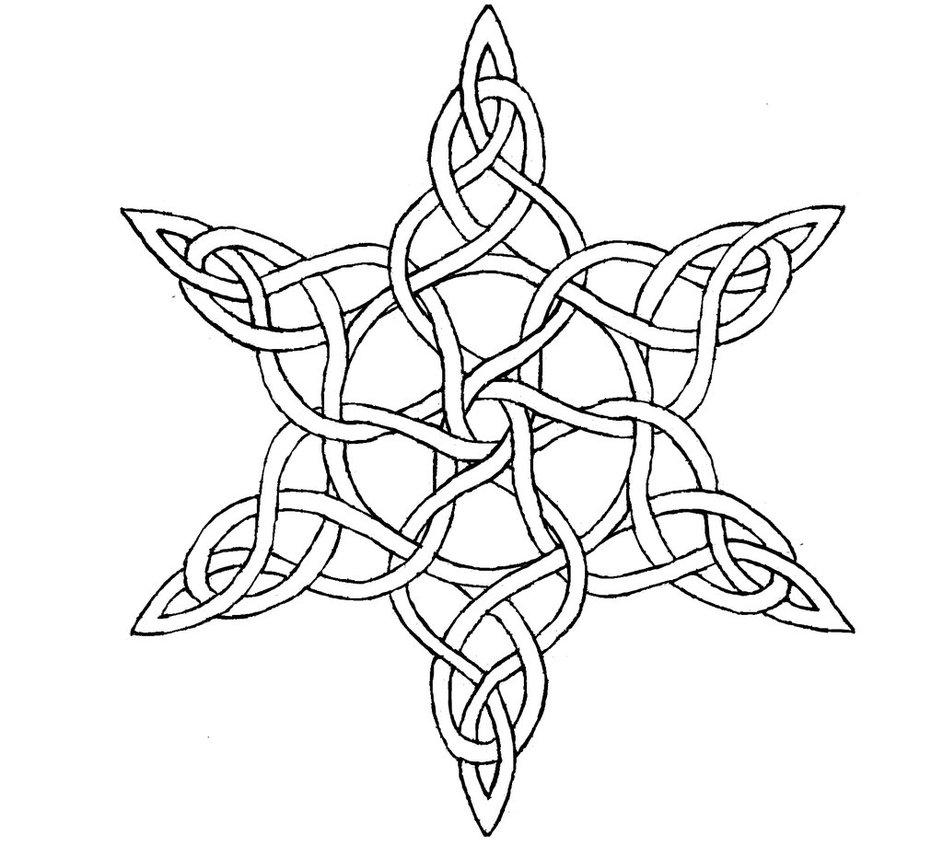 943x847 Wip Celtic Star Knot Bw By Wilhem1971