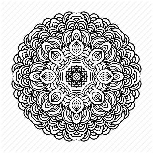 512x512 Doodle, Flower, Indian, Mandala, Orient, Yoga, Zen Icon Icon