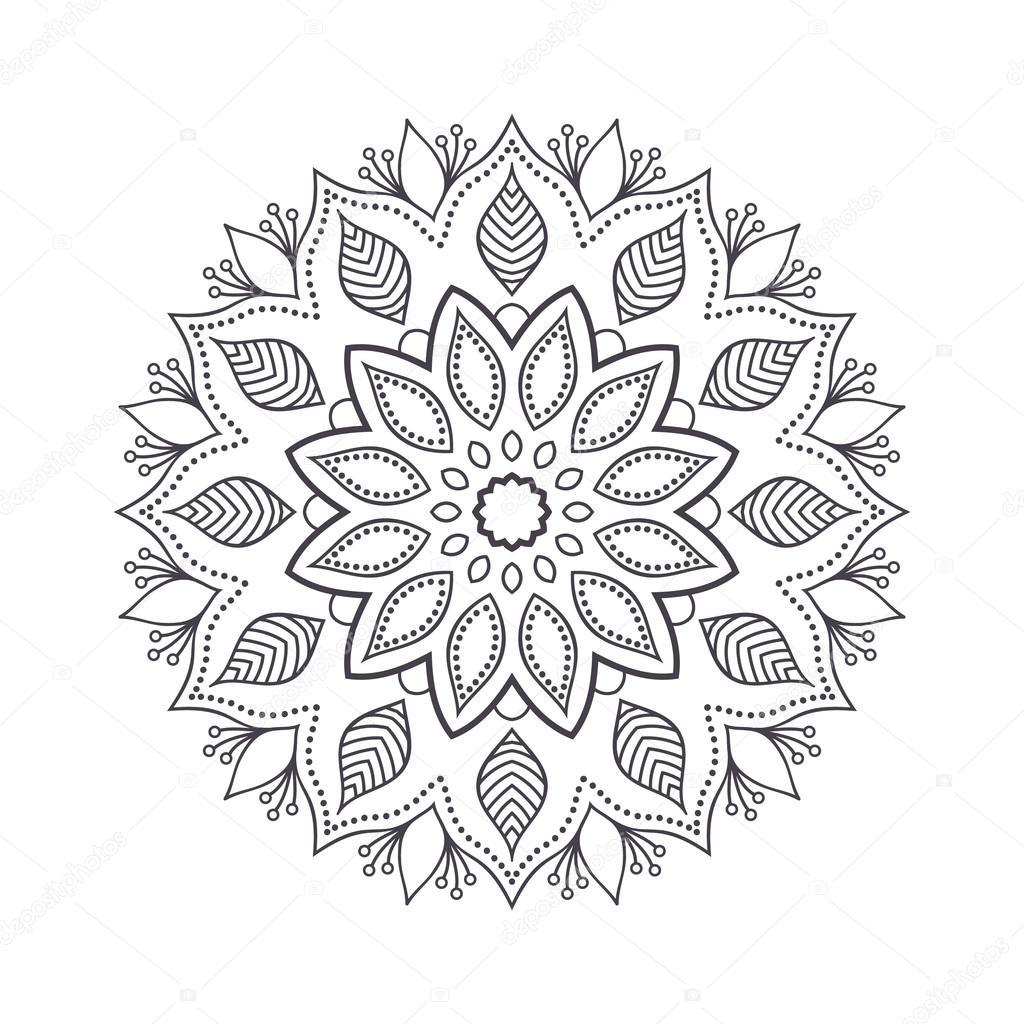 1024x1024 Drawn Flower Indian