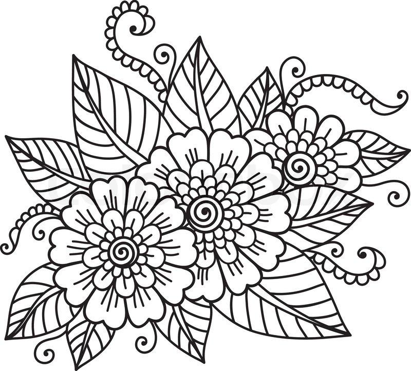 800x722 Flower Ornament Stock Vector Colourbox