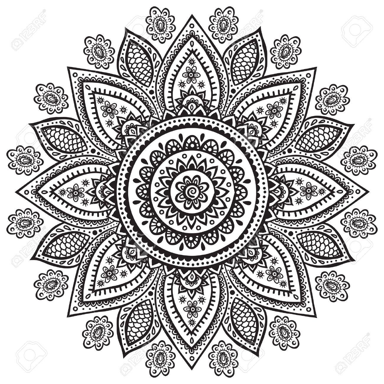 1300x1300 Indian Henna Clipart