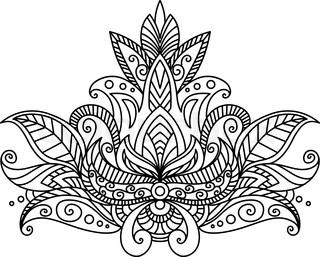 320x257 Round Mandala. Flower Like Ornament Pattern. Vintage Decorative