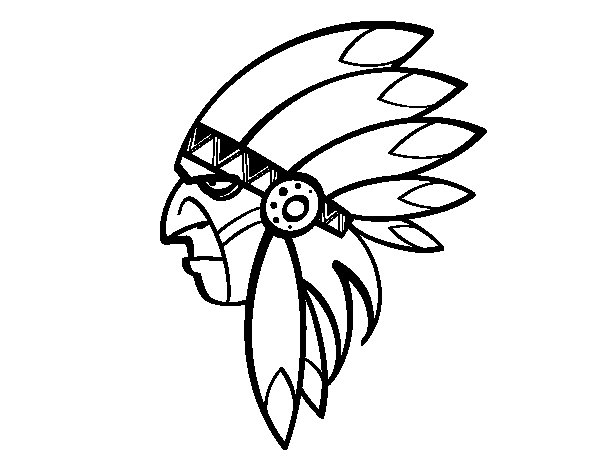 600x470 Face Of Indian Head Coloring Page