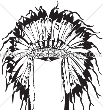 360x385 Indian Head Dress Production Ready Artwork For T Shirt Printing