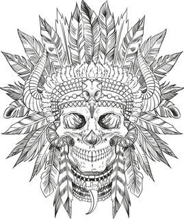 269x320 American Native Chief Head