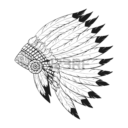 Indian Headdress Drawing