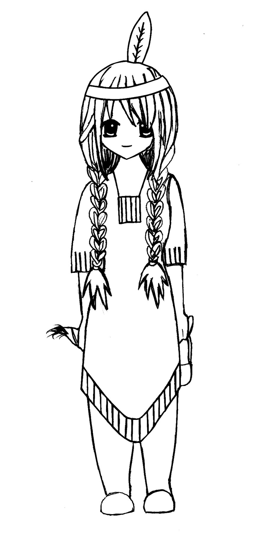 900x1866 Girl Indian Headdress Coloring Pages Indian Girl Coloring Page