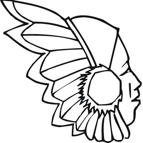 480x480 Indian Headdress Coloring Page Free Printable Coloring Pages