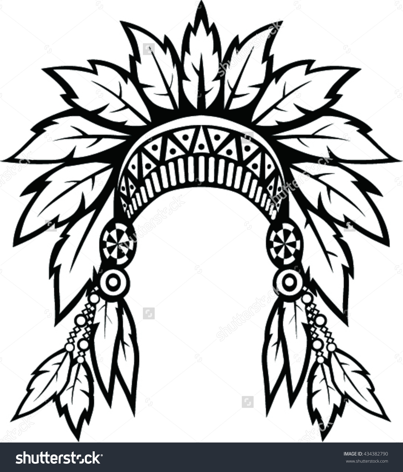 1365x1600 Native American Head Dress Clipart Collection