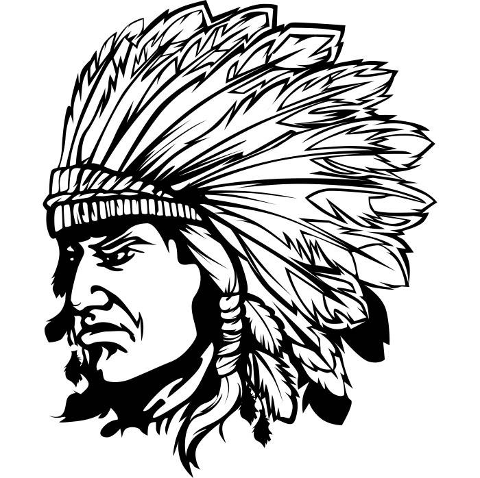 700x698 American Indian 3 Native Warrior Headdress Feather Tribe