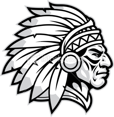 371x380 Football Clipart Red And White Indian Head