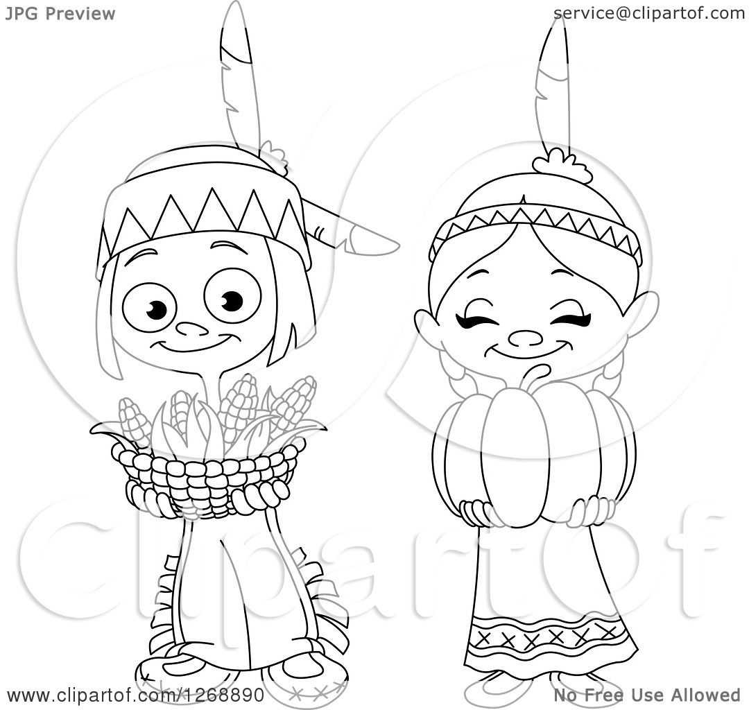 1080x1024 Clipart Of A Black And White Happy Cute Native American Indian Boy