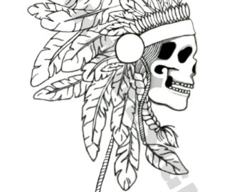 340x270 Indian Coloring Page Etsy