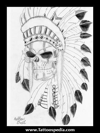 337x446 Skull Indian Tattoos