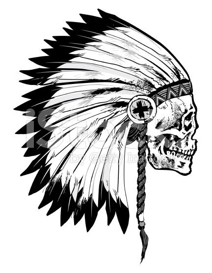 432x556 44 Indian Chief Skull Head Tattoos