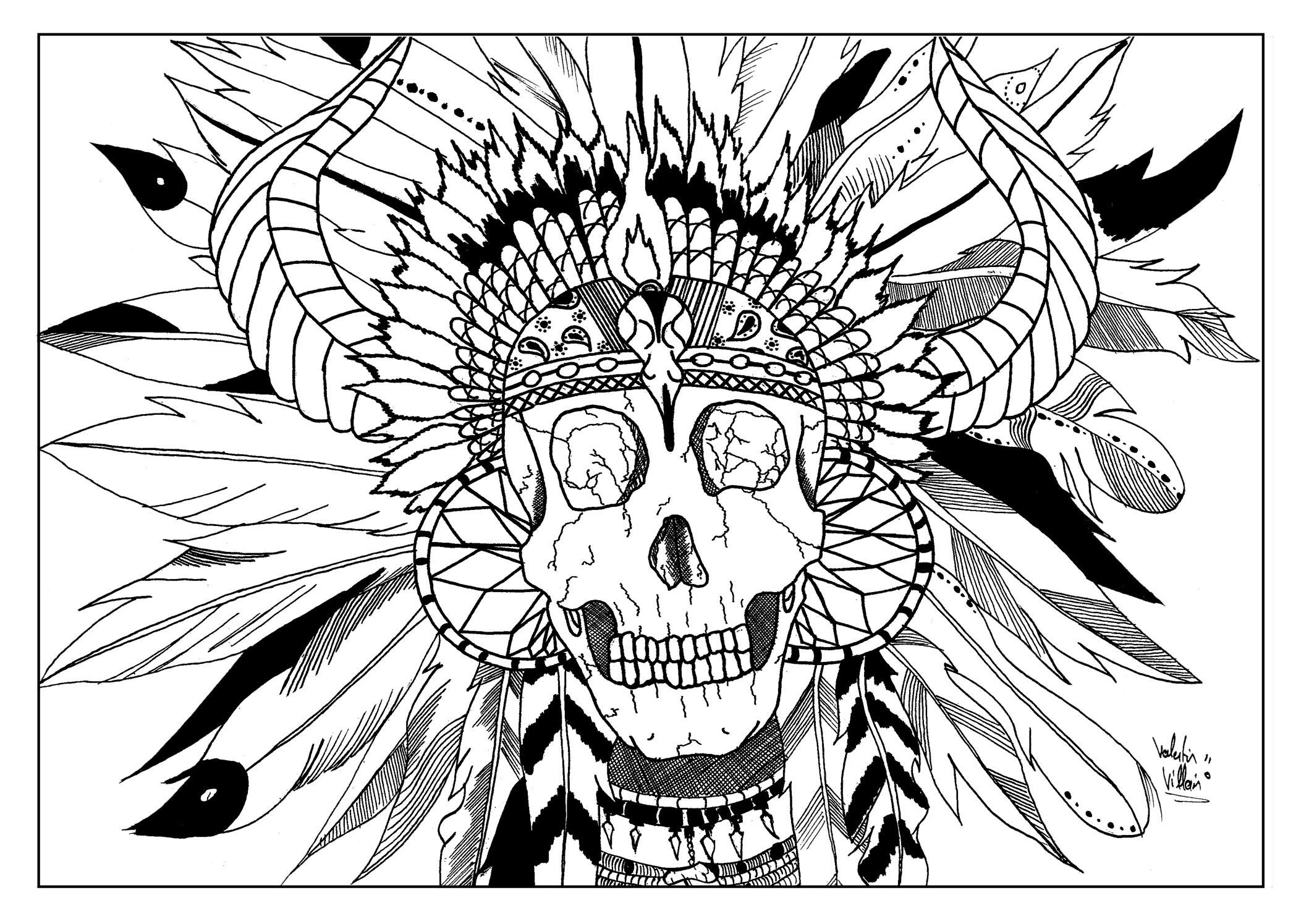 2118x1495 Skull Indian Par Valentin Native American