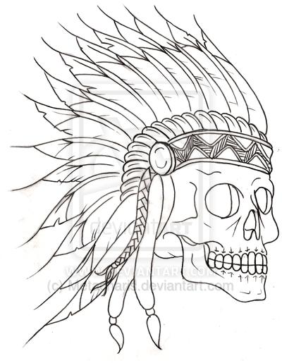 400x515 Tumblr Traditional Indian Skull Tattoo 2015