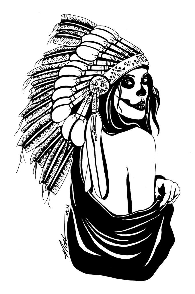 680x1024 Indian Skull Nat Hanss