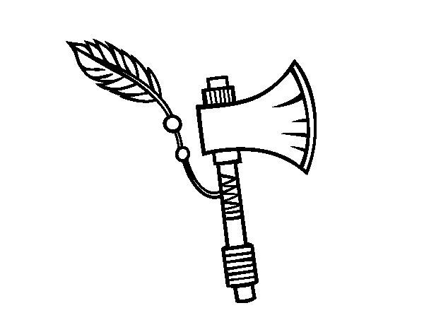 600x470 Indian Axe Coloring Page