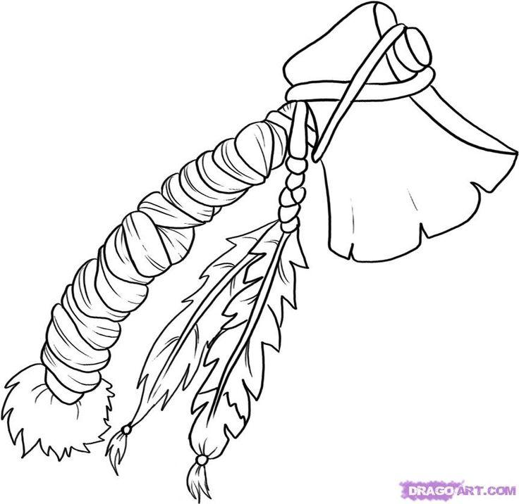 736x716 Indian Tomahawk With Windcatcher Tomahawk Watercolor Ideas