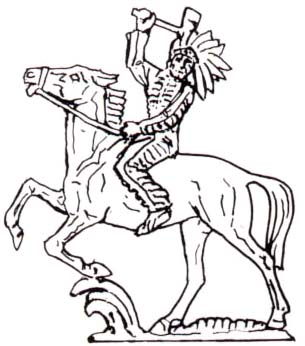 305x346 Indian Riding Horse With Tomahawk