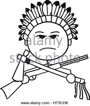 300x353 Axe And Tomahawk Native American Indian Weapon Stock Vector Art