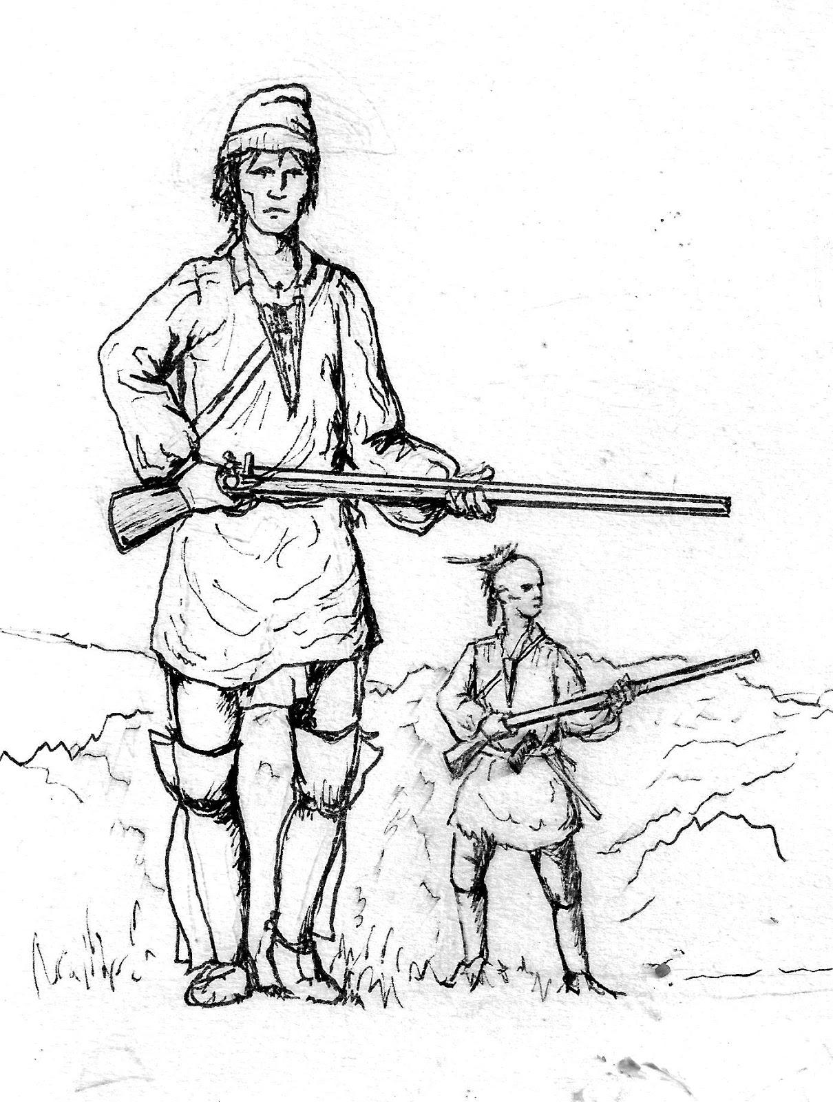 1210x1600 Flintlock And Tomahawk Drawings By Ralph Mitchard