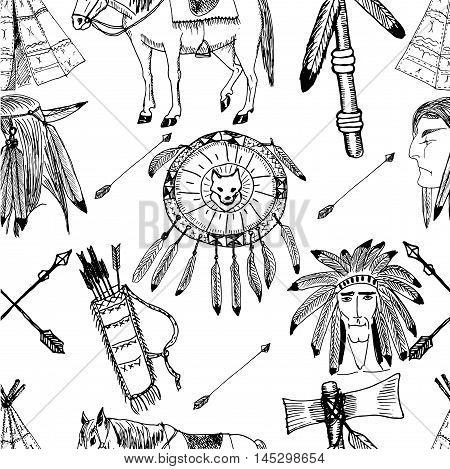 450x469 Hand Drawn Ethnic Native Vector Vector Amp Photo Bigstock