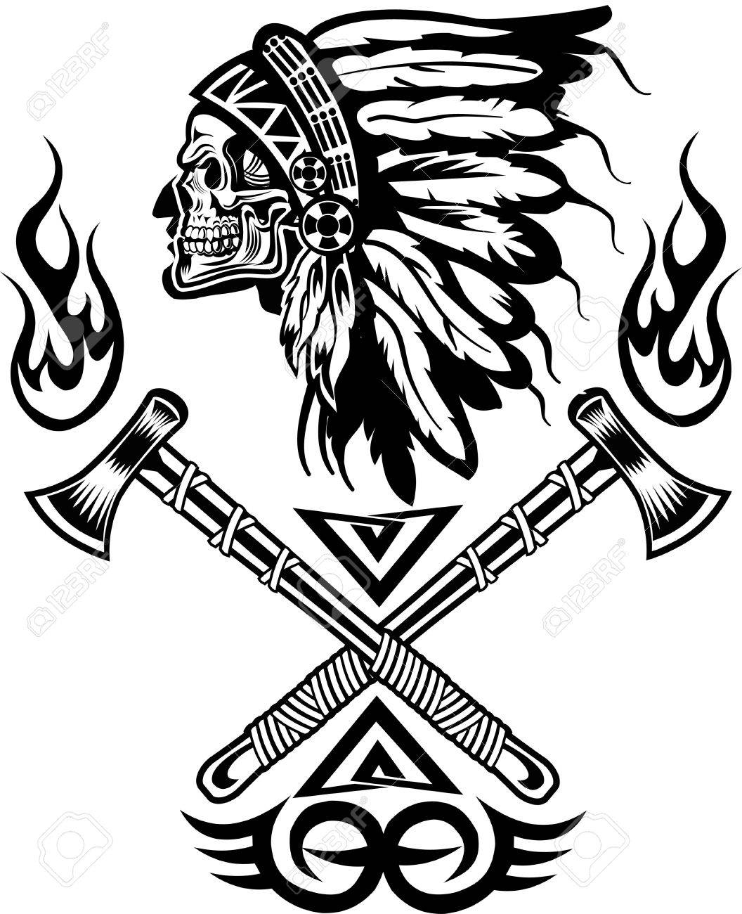 1056x1300 Indian Chief Tomahawk Royalty Free Cliparts, Vectors, And Stock