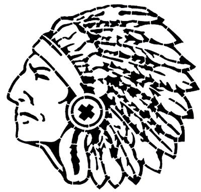 400x383 Indianswarriors Mascot Stencil Alpine Products, Inc.