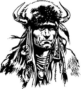 272x300 Native Chief Americian Indian Warrior Car Truck Window Vinyl Decal