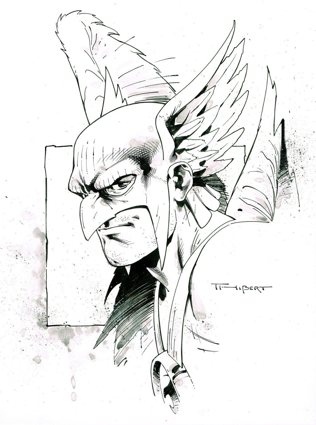 1024x1379 Hawkman Pre Con Doodle