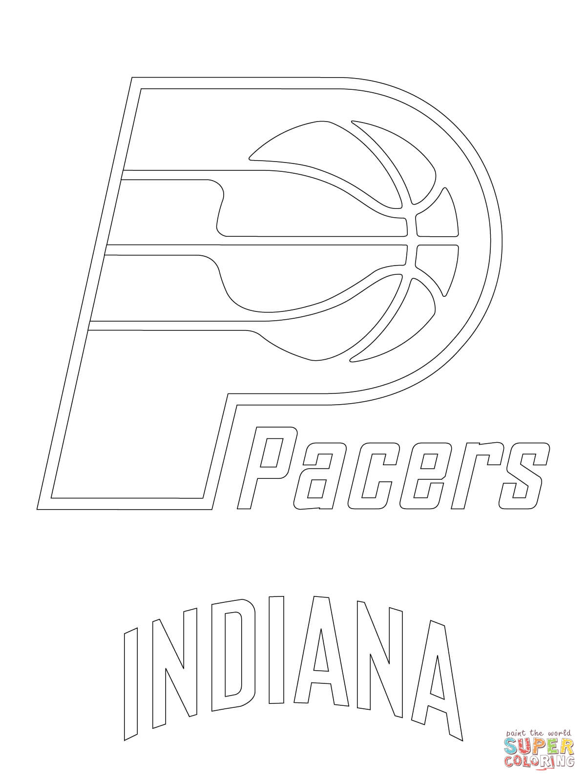 1200x1600 Indiana Pacers Coloring Pages