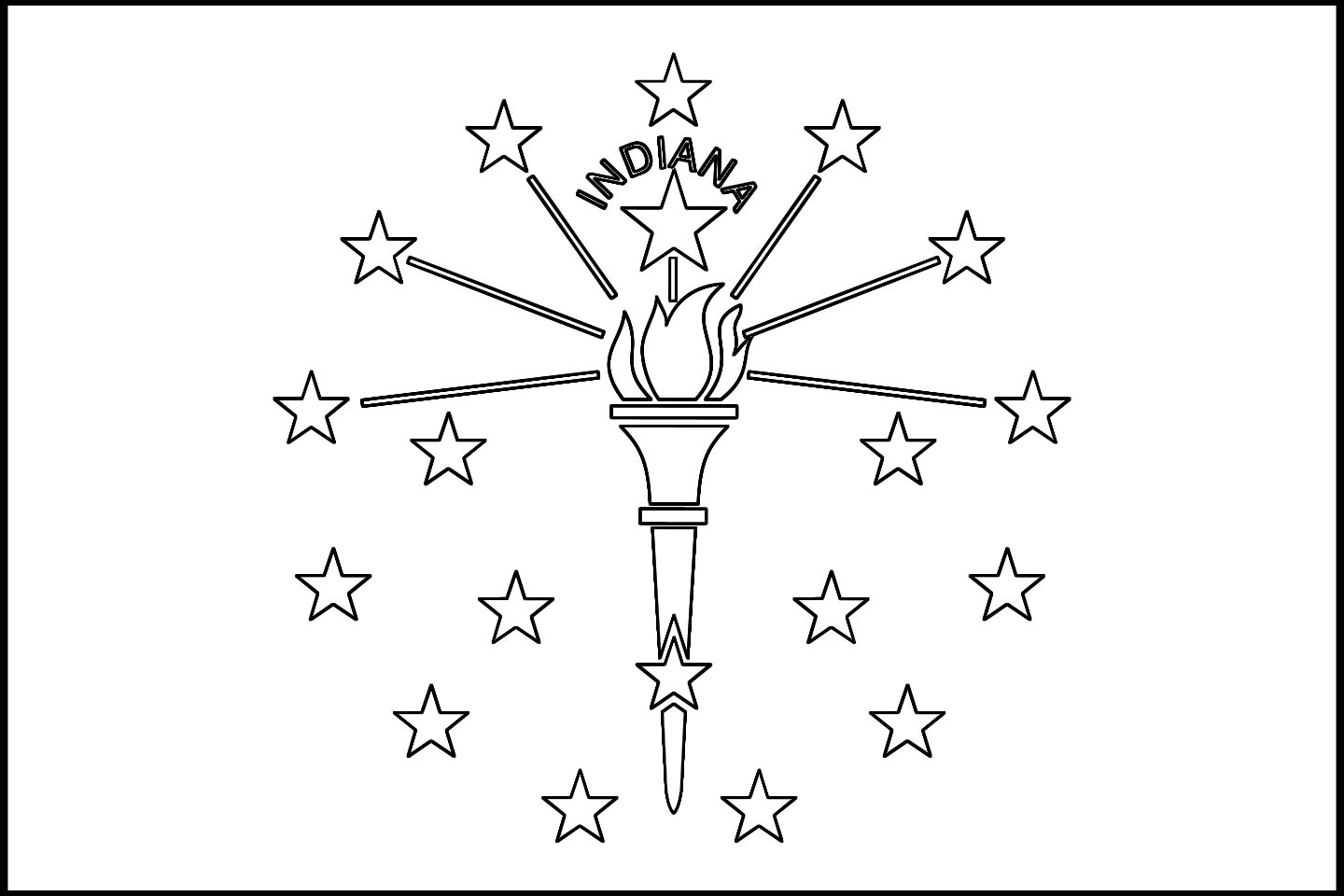 1440x960 Indiana State Flag