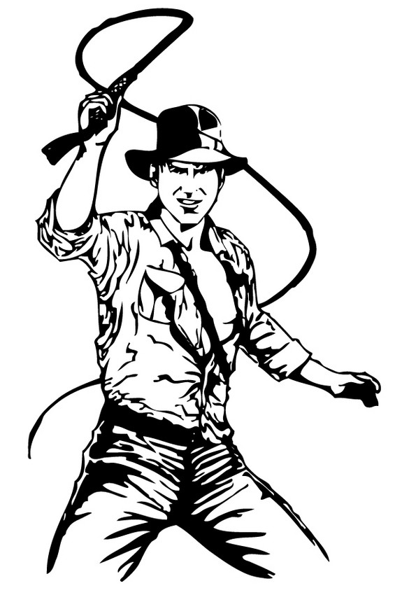 575x850 Indiana Jones And His Leather Whip Coloring Pages