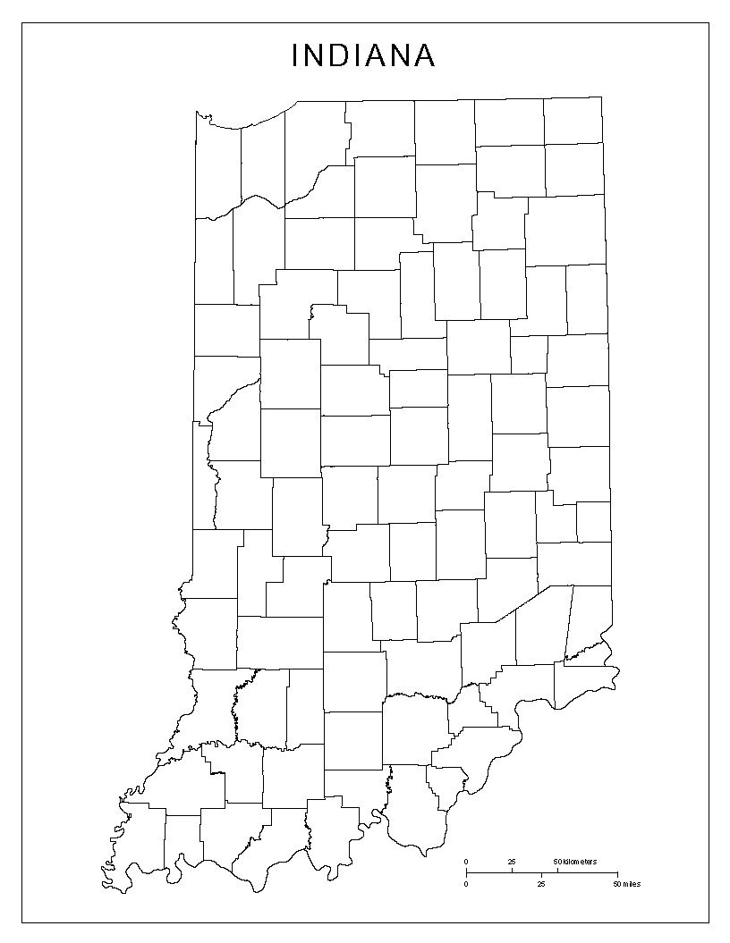 816x1055 Maps Of Indiana