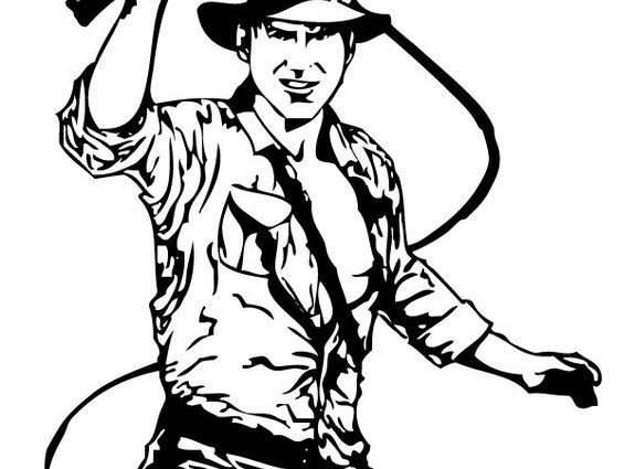 575x425 Indiana Jones Coloring Pages Indiana Jones And His Leather Whip
