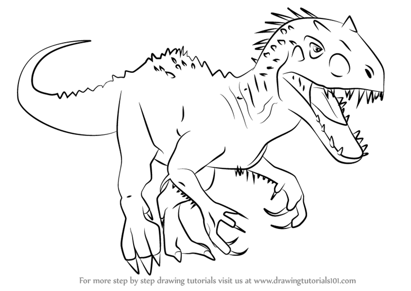 800x567 Learn How To Draw Indominus Rex From Jurassic World (Jurassic