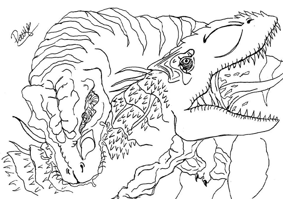 Indominus Rex Drawing at GetDrawings.com | Free for personal use ...