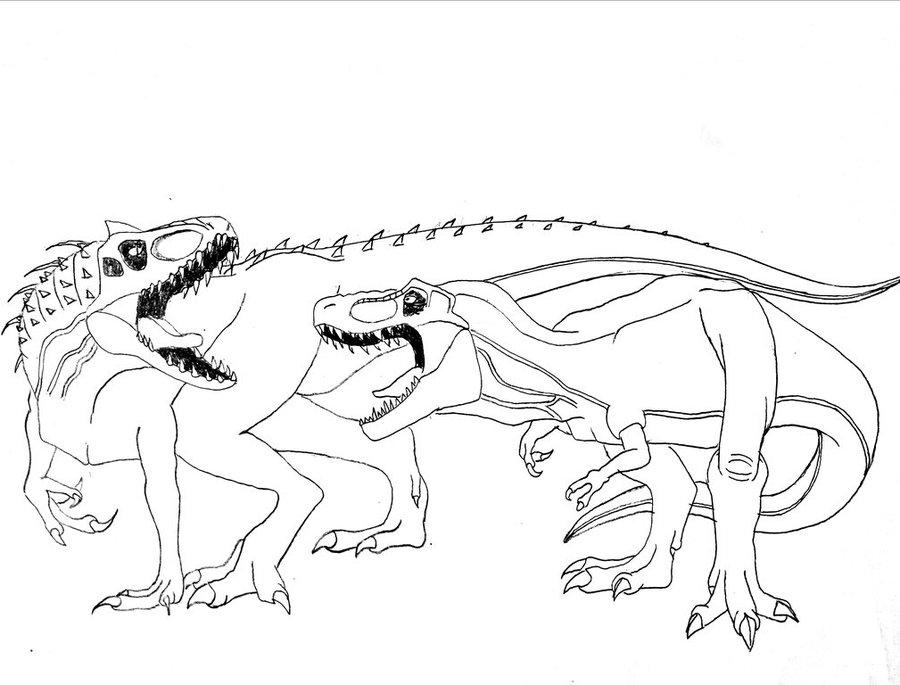 900x685 Rexy Vs Indominus Rex By Kaijufan113