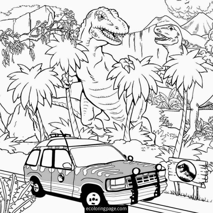 700x700 Jurassic World T Rex Indominus Rex Coloring Page E1441119551948