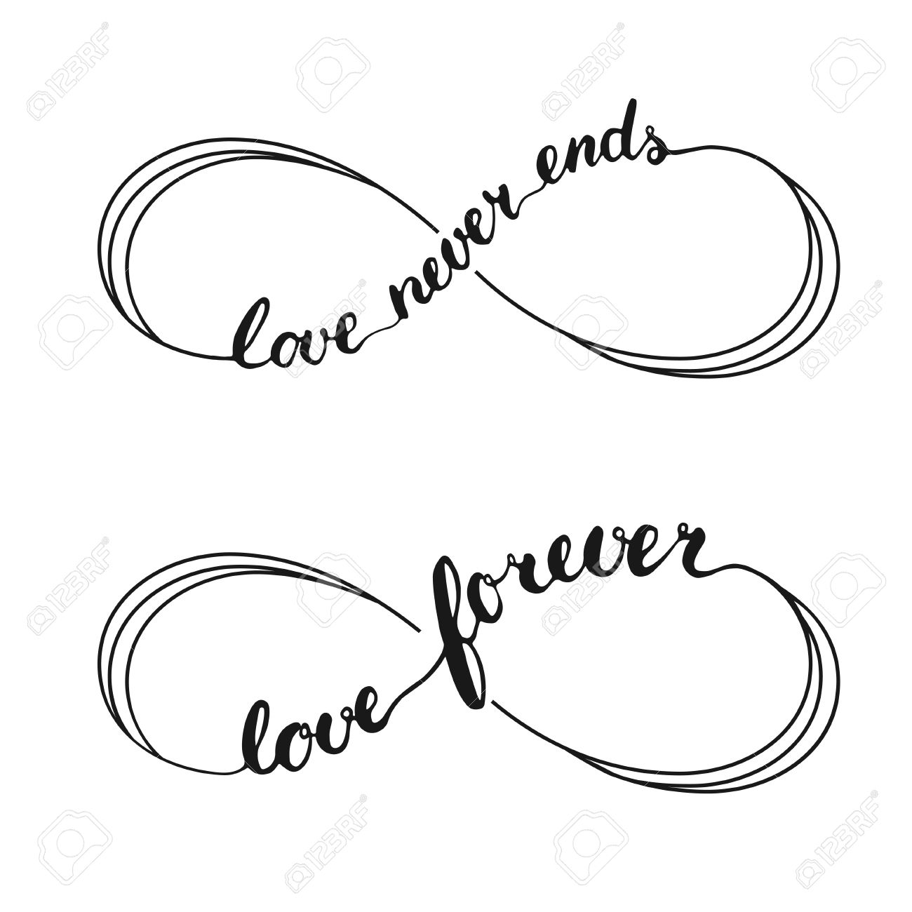1300x1300 Infinity Love Symbol Tattoo With Infinity Sign. Hand Written
