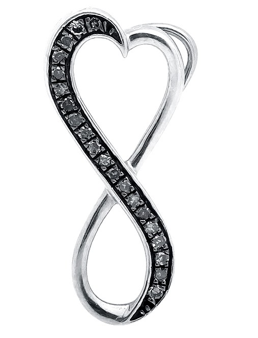 507x664 10k White Gold Infinity Heart Brown Geniun Diamond 1 Pendant