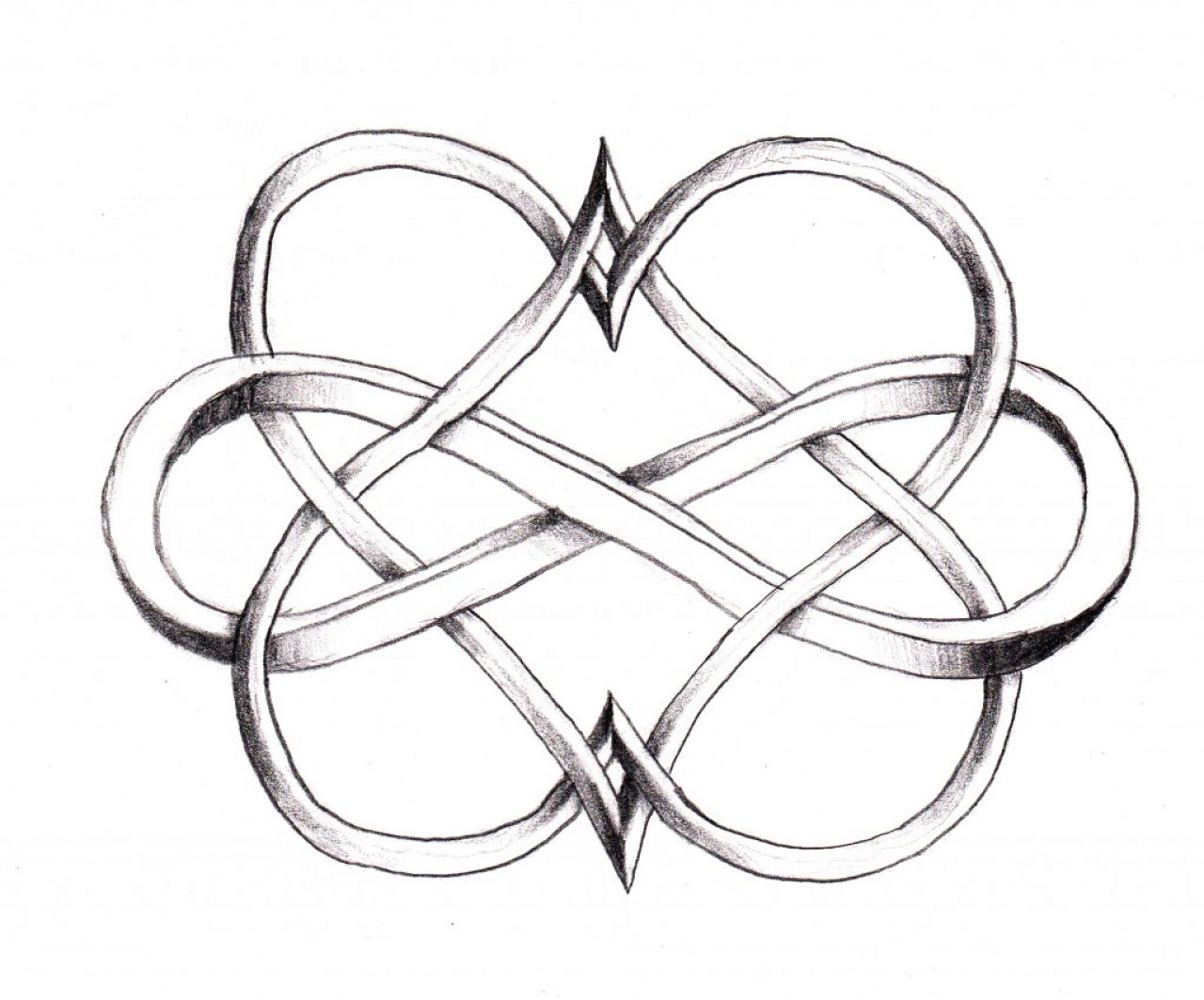1280x1063 Double Infinity Heart Tattoo