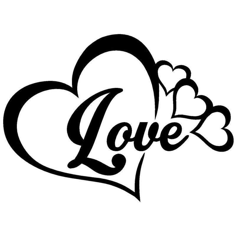 800x800 16x11.6cm Love Heart Symbol Vinyl Decals Family Infinity Forever