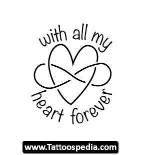 284x309 Infinity Heart Animated Tattoo Design