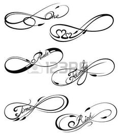 236x267 Love Infinity Heart Tattoo Design Tatuajes