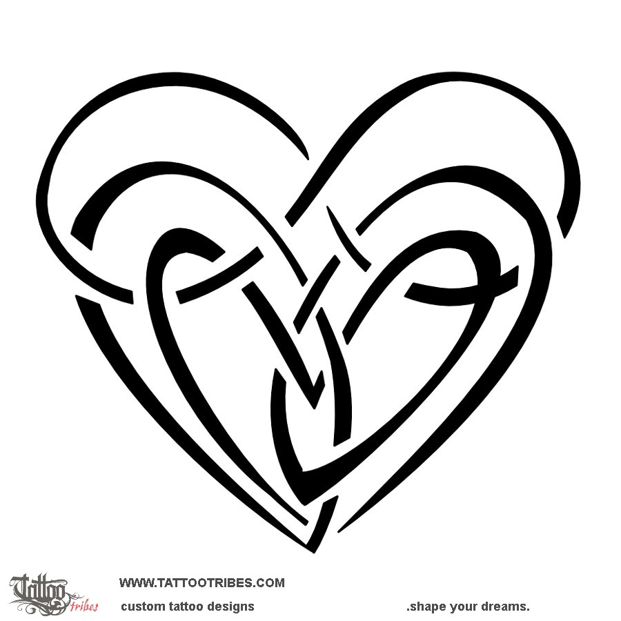 900x900 Tattoo Of Double Infinity Heart, Neverending Love Tattoo